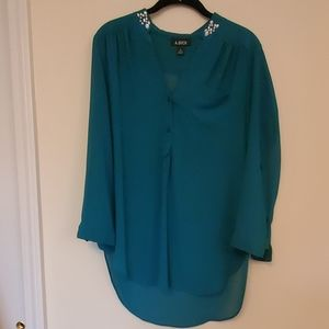 A.Byer Teal Blouse